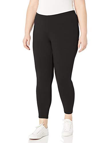 Just My Size Women's Plus-Size Stretch Jersey Legging, Black, 2X