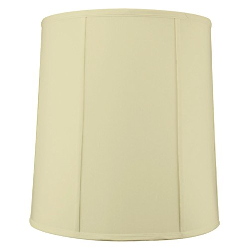 HomeConcept 14'x16'x17' Tall Drum Lampshade Egg Shell Shantung, Cylinder Replacement Large Lamp Shade for Table Lamps
