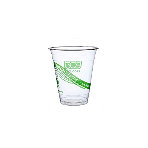 Eco-Products GreenStripe Renewable & Compostable Cold Cups, 12 oz, Case of 1000 (EP-CC12-GS)