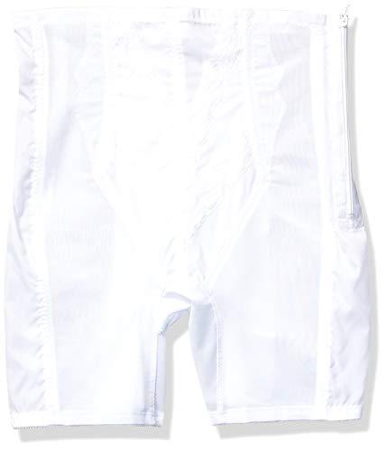 Rago Women's Plus-Size Extra Firm Zippered High Waist Long Leg Shaper (X), White, 4X-Large (38)