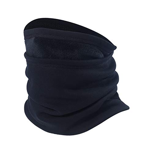Neck Gaiter Warmer Windproof Mask Fleece - Face Mask Black