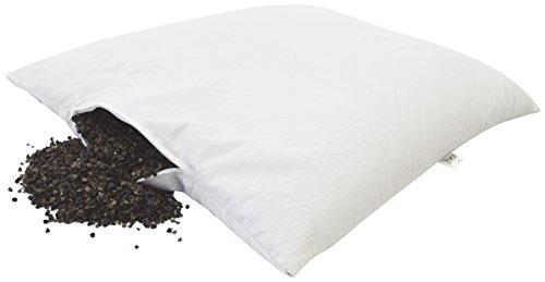 Bean Products WheatDreamz Queen Pillow - 20' x 30' - Cotton Zippered Shell with Organic Buckwheat - Made in USA