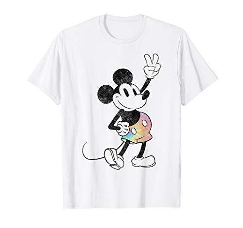 Disney Mickey And Friends Mickey Mouse Tie Dye Shorts T-Shirt