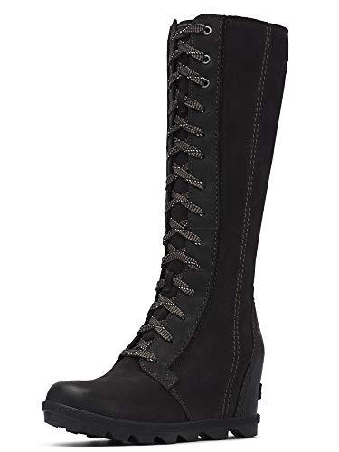 Sorel Women's Joan of Arctic Wedge Tall Boots, Black, 9.5 Medium US