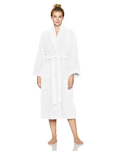 Pinzon Terry Bathrobe 100% Cotton, White, Small / Medium