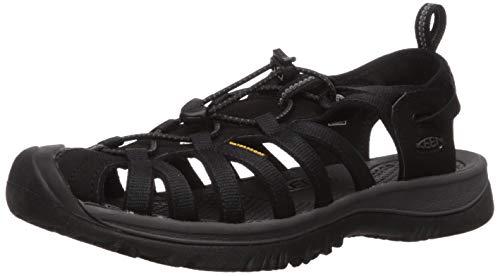 KEEN Women's Whisper Sandal, Black/Magnet, 10 M US
