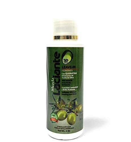 Dominican Laciante Natural Leave-In Conditioner - Moisturizing Mix with Keratin and Olive Oil Extracts - Ideal for Stressed and Dry Hair ( 8 Ounce)
