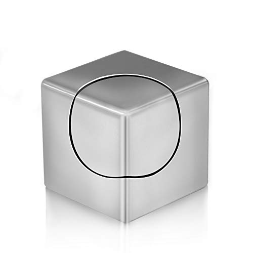 FC Fidget Spinner, Spin Stability Alloy Finger Spin Cube, Relief ADHD Anxiety Autism, Stainless Steel Bearing 3 Min High Speed Mute Spin (Silver)