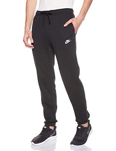 Nike Mens Sportswear Cuffed Fleece Sweatpants Black/White 804406-010 Size X-Small