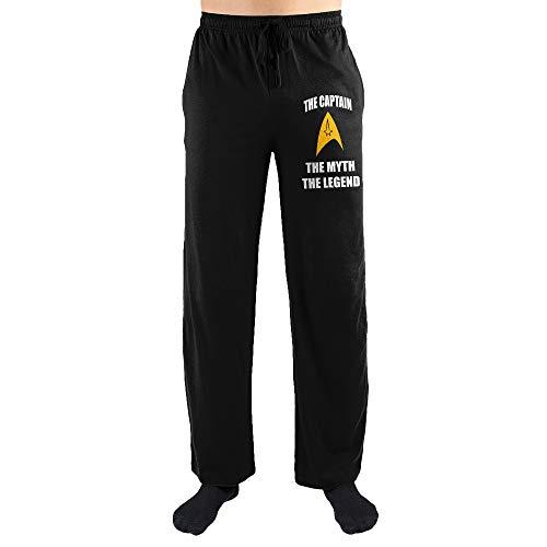 Bioworld Star Trek ?The Captain, The Myth, The Legend? Sleep Pants-XX-Large Black