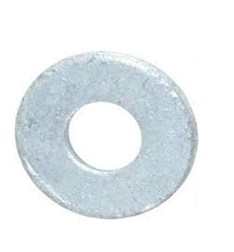 Steel Flat Washer, Hot-Dipped Galvanized Finish, ASME B18.22.1, 3/4' Screw Size, 13/16' ID, 2' OD, 0.148' Thick (Pack of 25)