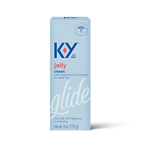 K-Y Jelly Premium Water Based Lube- Personal Lubricant Safe To Use With Latex Condoms, Devices, Sex Toys and Vibrators, 4 oz.