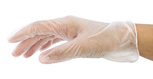 SAFE HANDLER Industrial Vinyl Gloves | Latex Free, Powder Free, Multi Purpose, Cleaning, For Work or For Home, Ambidextrous, Disposable Gloves (100 per box,10 boxes = 1000 PIECES)