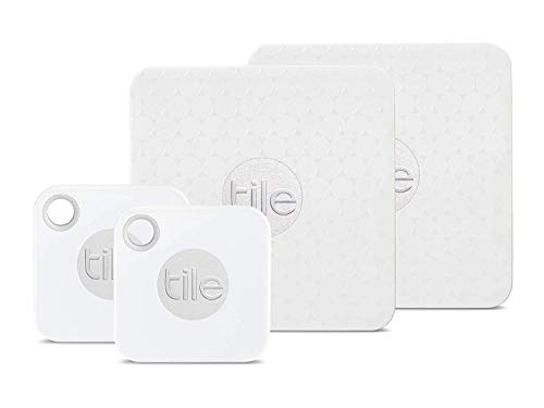 Tile Inc., Mate and Slim Combo, Bluetooth Tracker and Finder, Water Resistant, Replaceable Battery, Easy to Attach for Laptops, Phones, Wallets, Keys and Pet Collars (4 Pack)