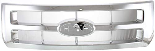 Grille Assembly Compatible with 2008-2012 Ford Escape Plastic Chrome Shell and Insert XLS/XLT Model