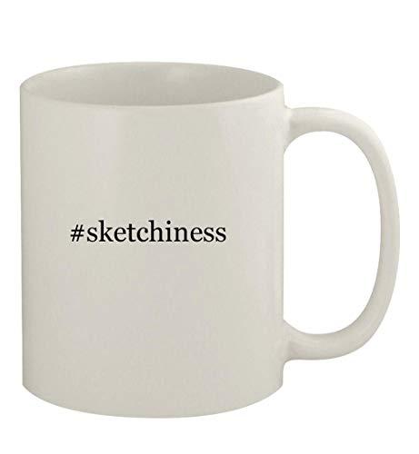 #sketchiness - 11oz Ceramic White Coffee Mug, White