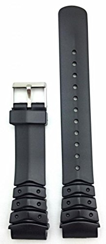 20mm Black Watch Band | Comfortable and Durable PVC Material Replacement Wrist Strap Bracelet for Men and Women