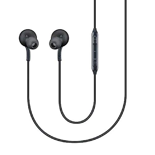 Samsung Stereo Headphones with Microphone for Galaxy S8, S9, S8 Plus, S9 Plus, Note 8 and Note 9 - Bulk Packaging - Titanium Grey