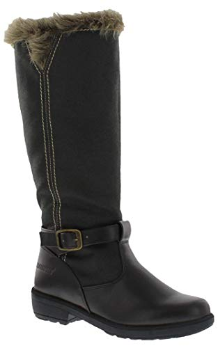 WEATHERPROOF Womens Cold Weather Boots with Side Zipper (Debby) Waterproof Insulated Tall Winter Boots for Comfort, Durability - Keeps Feet Warm & Dry - Available Both in Medium and Wide