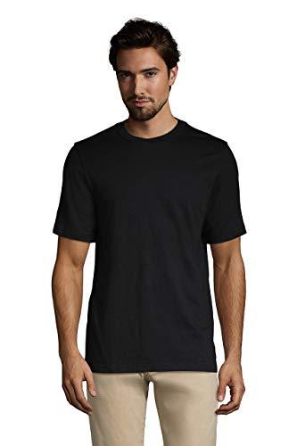 Lands' End Mens Short Sleeve Super-T Tee Black Regular X-Large