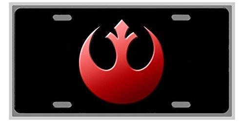Rebel Alliance Star Wars Fan Art License Plate Vanity Auto Tag/Room Sign