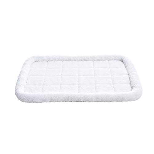 Amazon Basics Padded Pet Bolster Crate Bed Pad, Large (40 x 26 Inches)