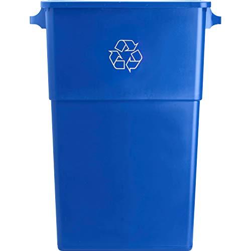 Genuine Joe GJO57258 Recycling Rectangular Container, 28 gallon Capacity, 22-1/2' Width x 30' Height x 11' Depth, Blue