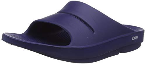 OOFOS Unisex Ooahh Slide Sandal,Navy,9 B(M) US Women / 7 D(M) US Men