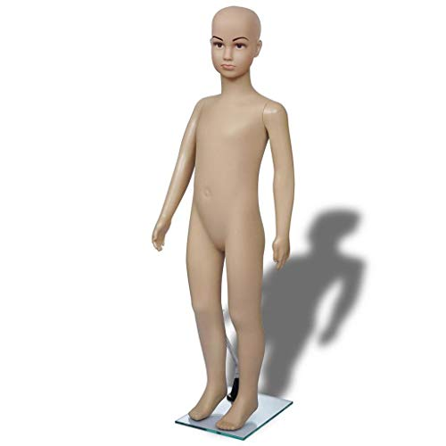 Child Mannequin Torso Dress Form Mannequin Body Adjustable Dress Model Male Full Body Mannequin Stand Realistic Display Mannequin Head Metal Base