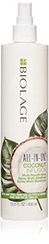 BIOLAGE Biolage All-In-One Coconut Infusion   Multi-Benefit Treatment Spray   Sulfate & Paraben-Free  For All Hair Types   13.5 Fl. Oz, 13.5 fl. oz.
