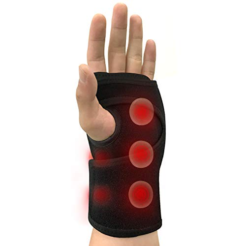 UTK Jade Infrared Wrist Heating Pad Wrap, Wrist Brace for Carpal Tunnel Relieves Sprains and Sore Muscles, Wrist Support Brace Pain Relief, Tendonitis-Left Hand