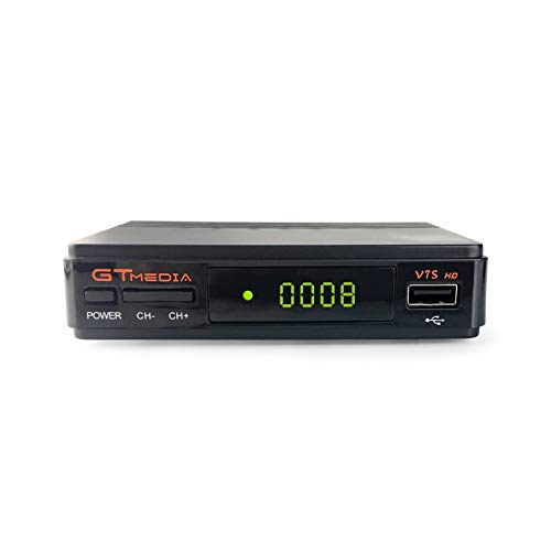 GT MEDIA V7S HD Satellite TV Receiver Built-in Galaxy 19 FTA DVB-S/S2 Digital Sat Decoder Full HD 1080P with USB WiFi Antenna Support YouTube, USB PVR Ready, CCcam