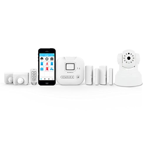 SKYLINK SK-250 Alarm Camera Deluxe Connected Wireless Security Home Automation System, iOS iPhone Android Smartphone, Echo Alexa and IFTTT Compatible with No Monthly Fees, White