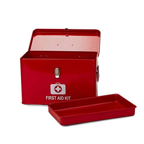 Mind Reader Vintage First Aid Box Empty