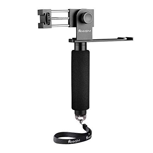 ANNSM Cellphone Smartphone Mobile Phone Clip Mount Rig Adapter for Vlog Video Live with Vertical/Horizontal Shooting 2 Cold Shoes Mount and Hand Strap for Vlogger and Youtuber