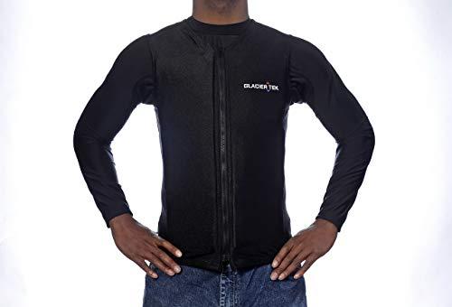 Flex Vest Cool Vest with Nontoxic Cooling Packs Black Large (Chest Size 39-41)