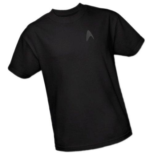 Star Trek Into Darkness Command Emblem Adult T-shirt - Black (X-Large)