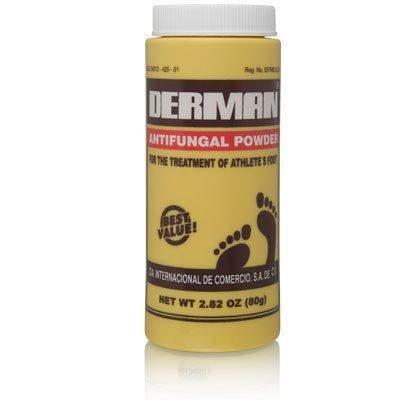 Derman Antifungal Powder for Treatment of Athlete's Foot Foot Care Products 3 Pk Deal.