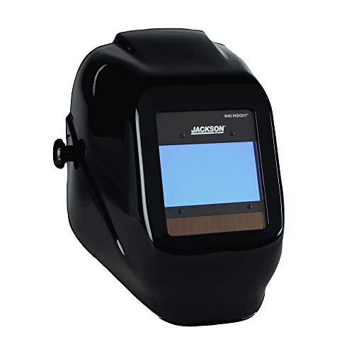 Jackson Safety Ultra-Lightweight Insight Variable Auto Darkening Filter Welding Helmet, Nylon, Halo X, Black, Universal Size, 46131