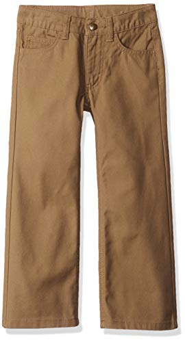 Carhartt Boys' Little Canvas 5 Pocket Pant, Medium Brown, 7