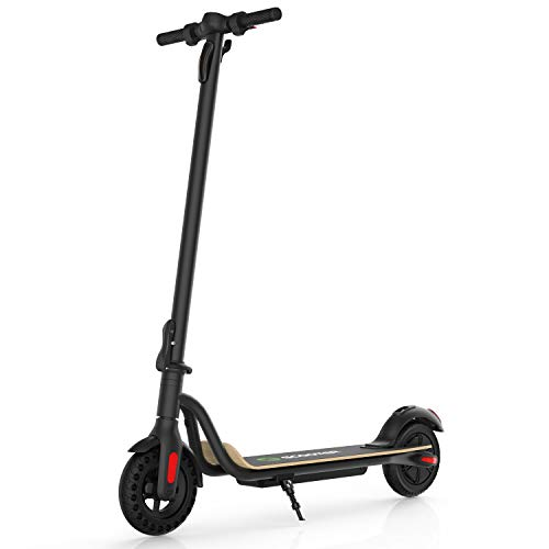 Megawheels Electric Scooter, 3 Gears, Max Speed 15.6 MPH, Up to 17 Miles Powerful Battery with 8'' Tires Foldable Electric Scooter for Adults with Longer Deck, Max Load 266 lbs