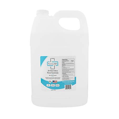 Hand Sanitizer Gallon – Liquid with 80% Alcohol - Sanitize-MD | 1 Gallon (3.9L) Bottles