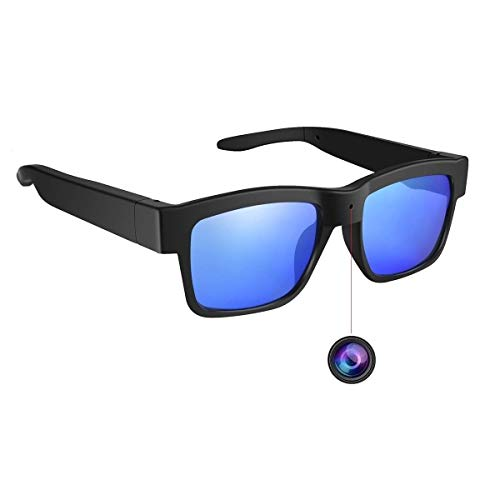 Camera Glasses,Video Sunglasses Camera Full HD 1080P 65 Degree Angle for Outdoor,Mini Video Cam with UV Protection Polarized Lens
