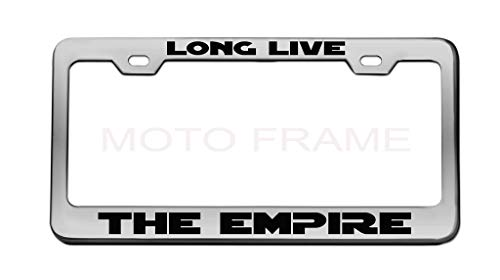 Long Live The Empire Star Wars Chrome License Plate Frame Tag