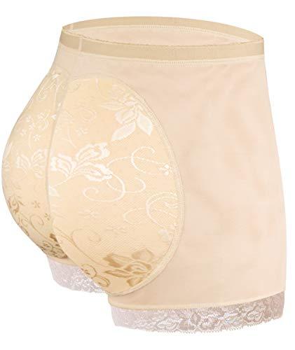 NINGMI Women Butt Lifter Padded Shapewear Enhancer Control Panties Body Shaper Underwear (Nude, Medium)