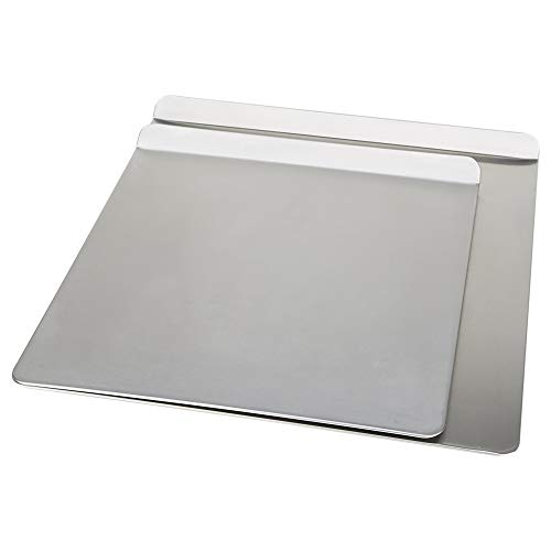 AirBake Natural Aluminum 2 Pack Insulated Cookie Sheet, no burn design, 14 x 12in & 16 x 14in