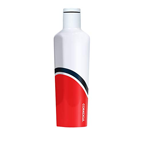 Corkcicle 25oz Canteen Regatta Collection - Water Bottle & Thermos - Triple Insulated Shatterproof Stainless Steel, Regatta Red