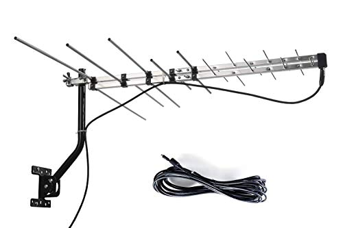 McDuory TV Outdoor Yagi Antenna with Long Range Reception Capacity - Digital TV Antenna Available for Attic or Roof Mount, Long Range Digital OTA Antenna for Clear Reception, 4K/1080P/HD