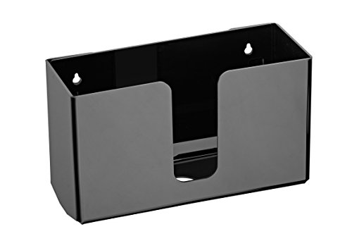 Alpine Industries Acrylic Wall-Mounted Paper Towel Dispenser - Single or Multiple Towel Retrieval - Bi Fold and C Fold (Black)