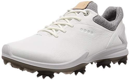 ECCO Men's Biom G3 Gore-TEX Golf Shoe, Shadow White Yak Leather, 42 M EU (8-8.5 US)